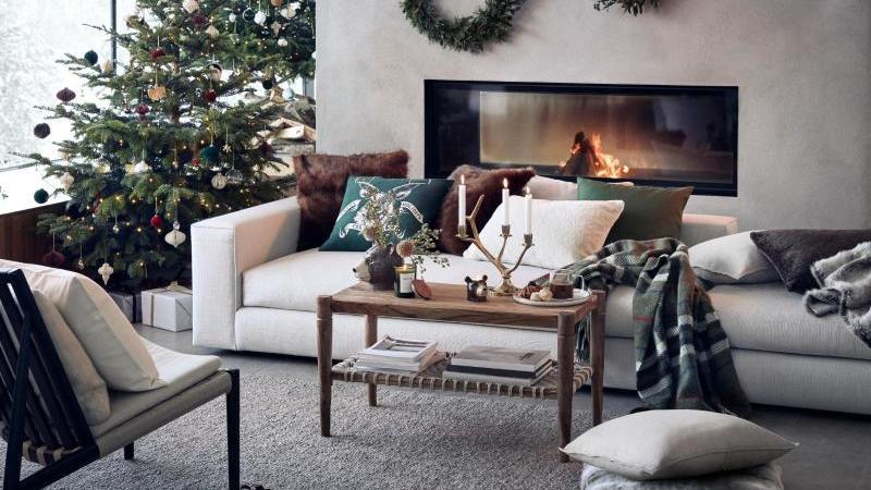 Natürliche Elemente sind weiterhin in der Dekoration für Advent und Weihnachten gefragt. Auch H&M Home setzt zum Beispiel darauf. Foto: H&M Home/dpa-tmn