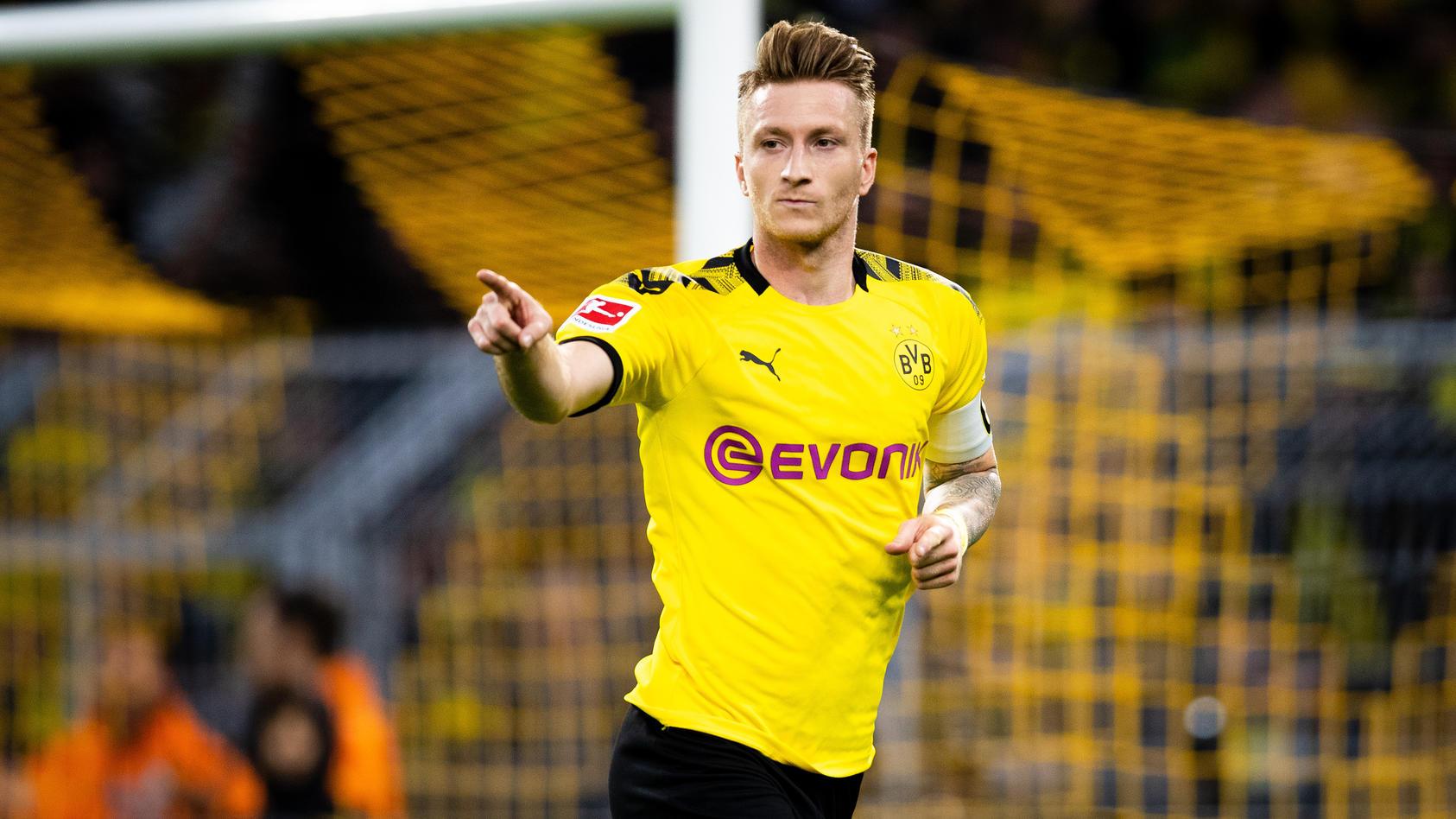 Dortmund, 28.09.2019 Torjubel: Marco Reus (BvB) Borussia Dortmund - Werder Bremen *** Dortmund, 28 09 2019 Goal celebrat