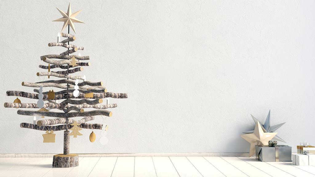 Minimalistischer Weihnachtsbaum
