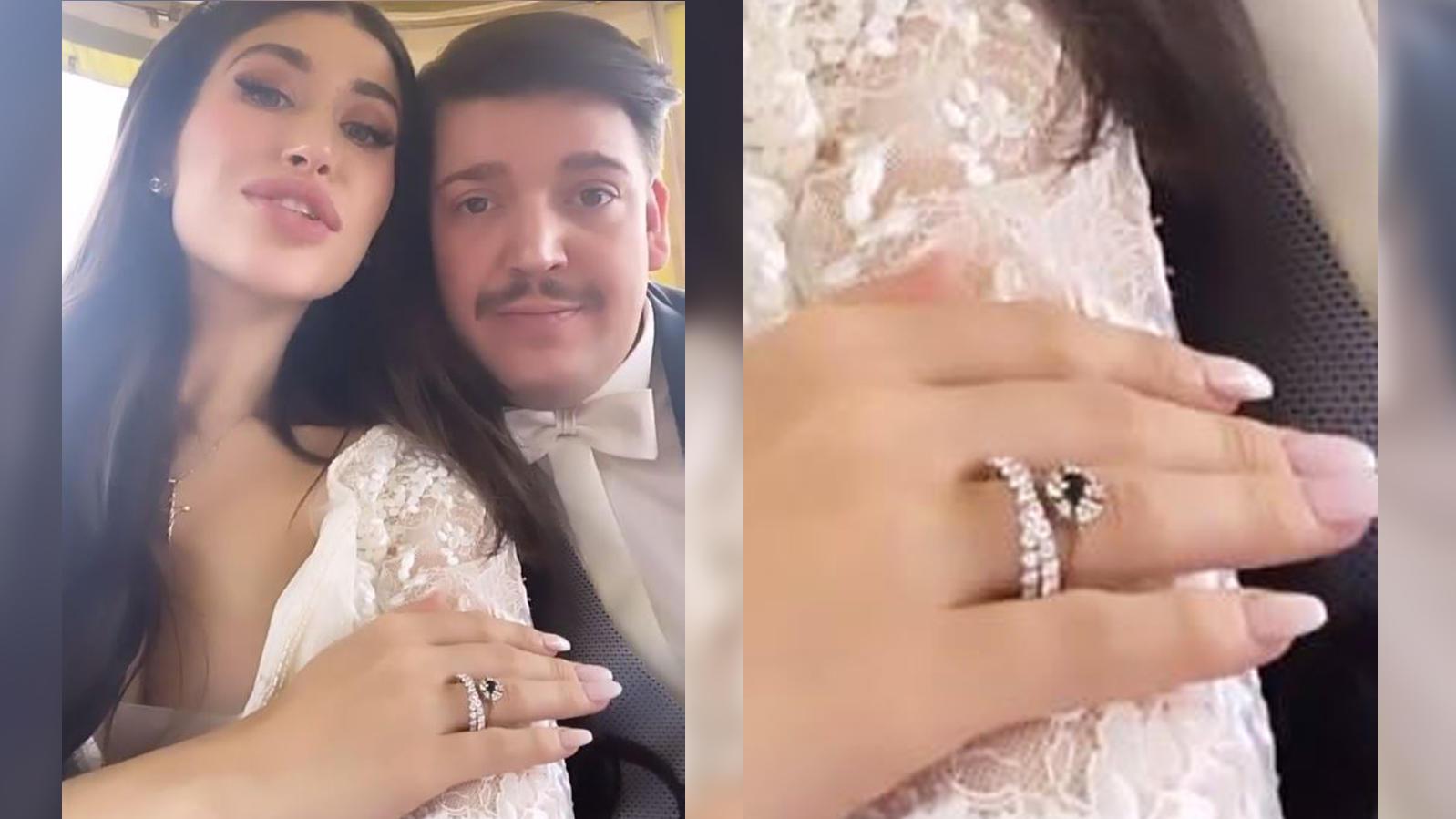 Sie zeigt ihren Hochzeitsring: YouTuberin Diana June hat ihrem Freund David das Jawort gegeben.