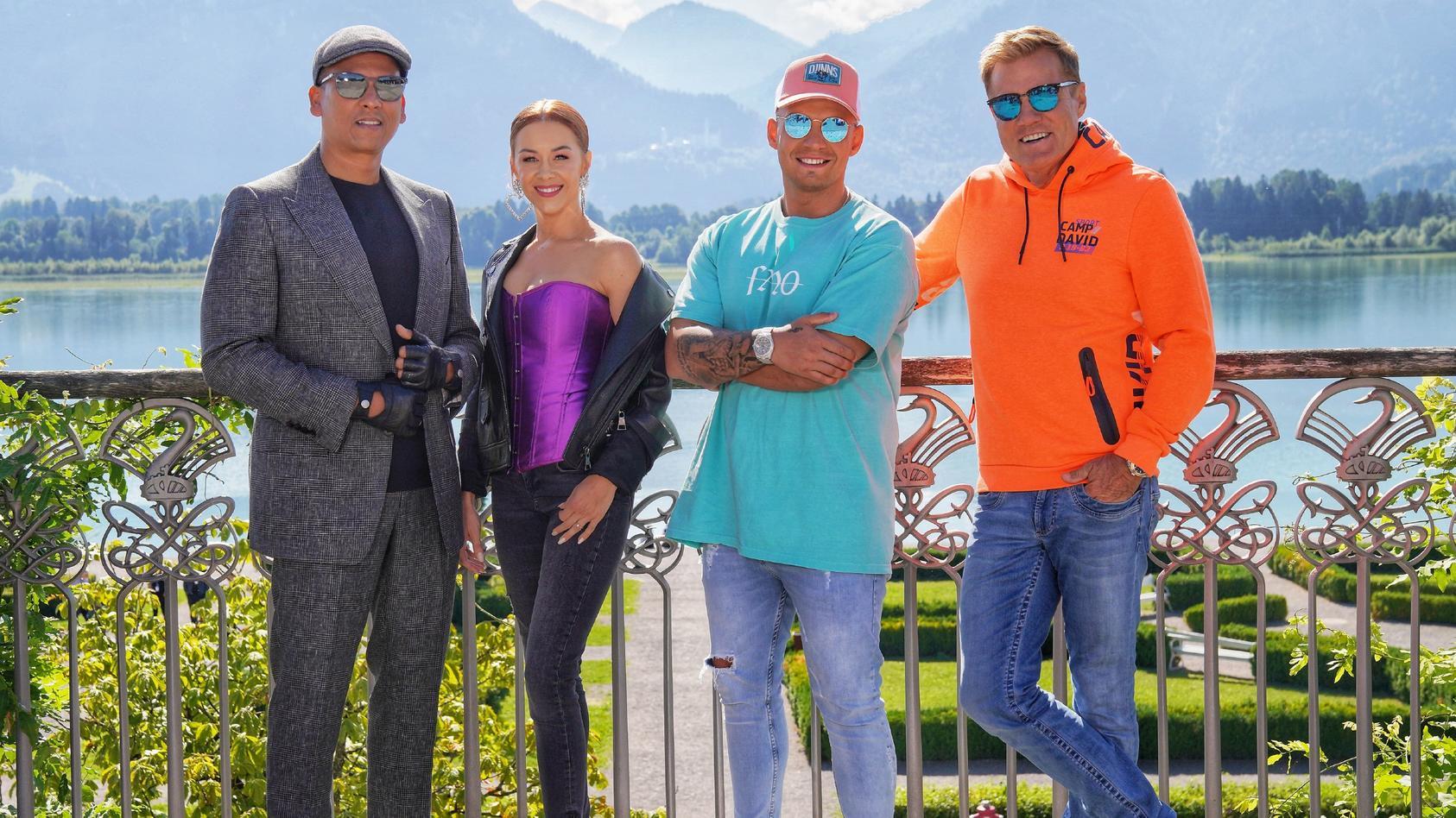 Auch 2020 bewerten sie große und kleine Gesangstalente: Xavier Naidoo, Oana Nechiti, Pietro Lombardi und Chefjuror Dieter Bohlen.
