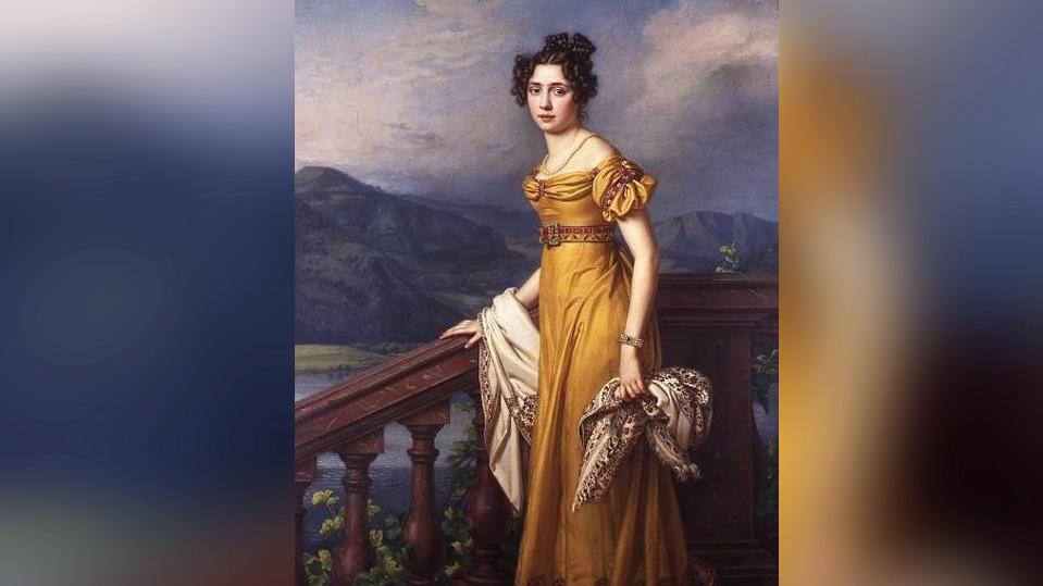 Ölgemälde von Königin Amalie Auguste aus dem Jahr 1823