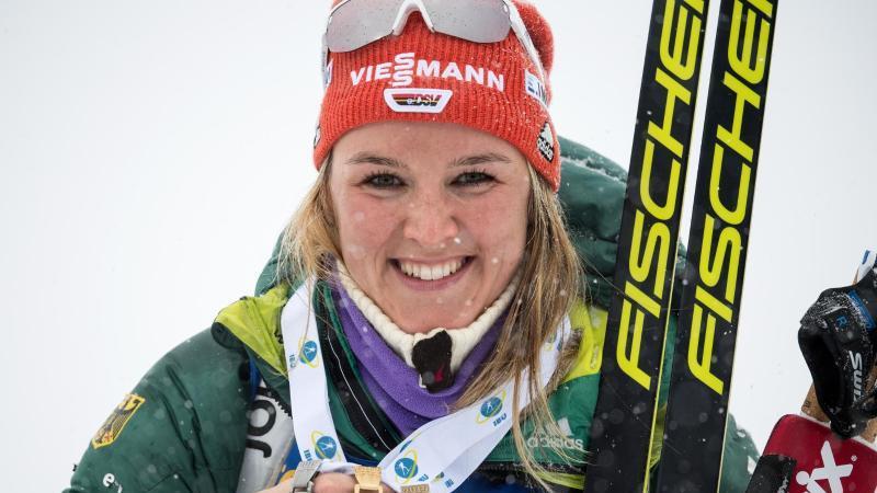 Bei den Biathlon-Damen ruhen einige Hoffnungen auf Denise Herrmann. Foto: Sven Hoppe/dpa