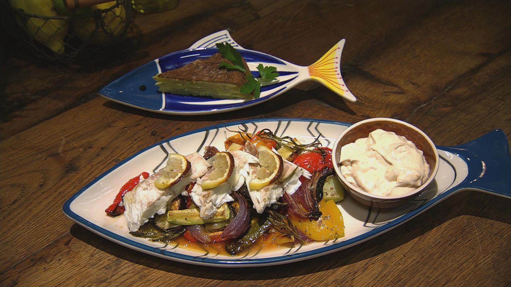 Weltreise – Zu Gast in Europa: Dorade vom Blech mit mediterranem Gemüse