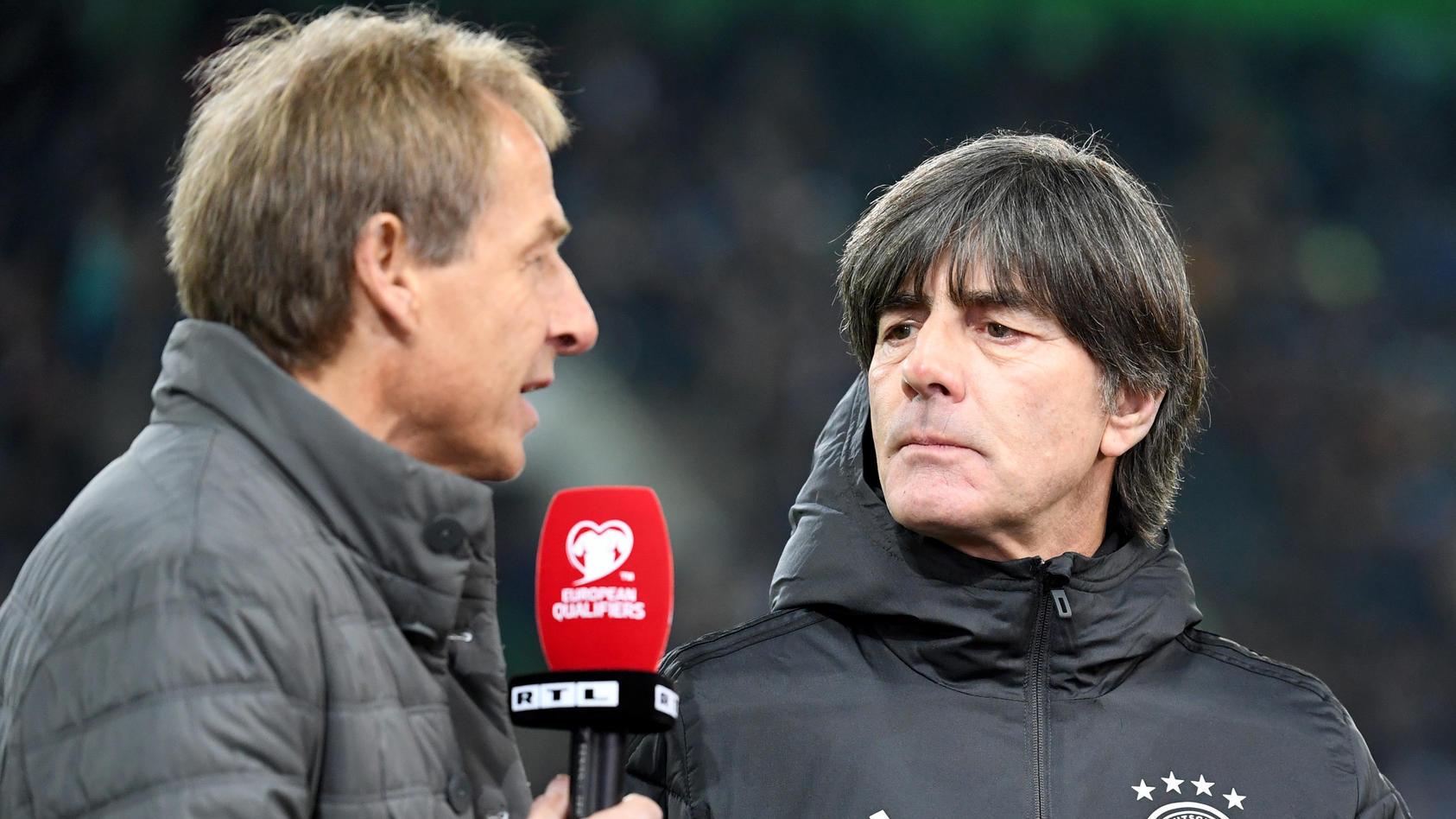 Joachim Löw im RTL-Gespräch mit Jürgen Klinsmann