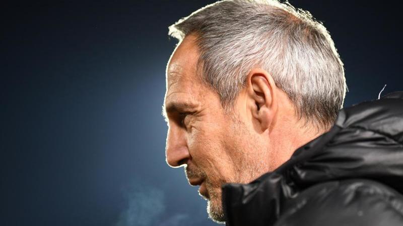 Trainer Adi Hütter von Frankfurt gibt ein Interview. Foto: Patrick Seeger/dpa/Archivbild