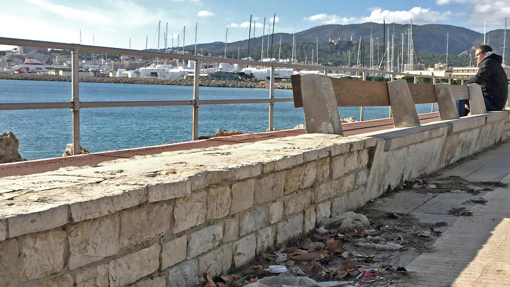 An den Strandpromenaden Mallorcas zeigt sich das Ausmaß des Müllproblems.