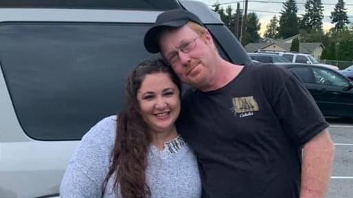 Corey Simmons und seine Frau.