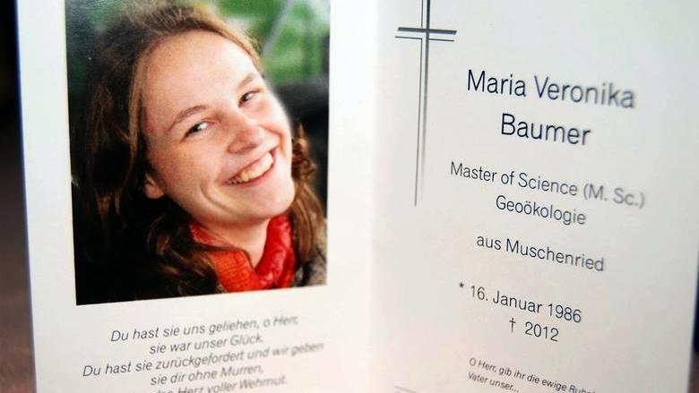Maria Baumer wurde mit 26 Jahren ermordet.