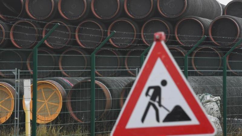 Noch ist die Pipeline Nord Stream 2 eine Baustelle. Foto: Stefan Sauer/dpa-Zentralbild/dpa