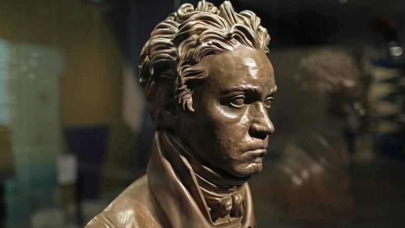 Eine Portraitbüste von Ludwig van Beethoven. Foto: Oliver Berg/dpa/Archivbild