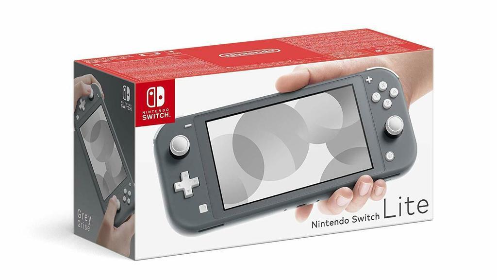 Nintendo Switch Lite in grau.