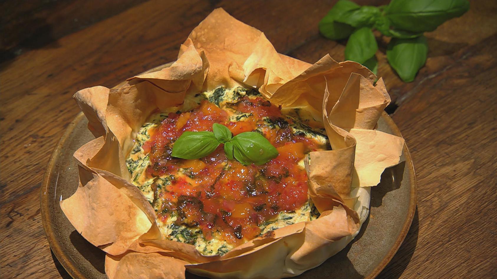 Süß und herzhaft aus dem Ofen - Das kriegt jeder gebacken: Spinat-Ricotta-Tarte