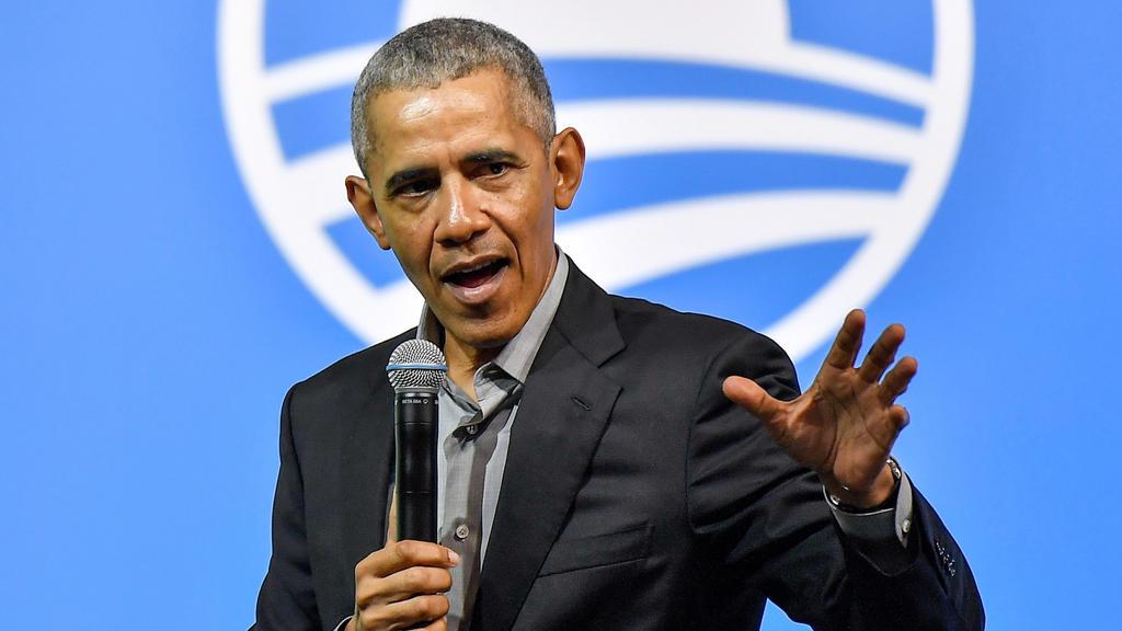 13.12.2019, Malaysia, Kuala Lumpur: Barack Obama, ehemaliger Präsident der USA, spricht während einer Veranstaltung der Obama Foundation. Foto: Shafiq Hashim/BERNAMA/dpa +++ dpa-Bildfunk +++