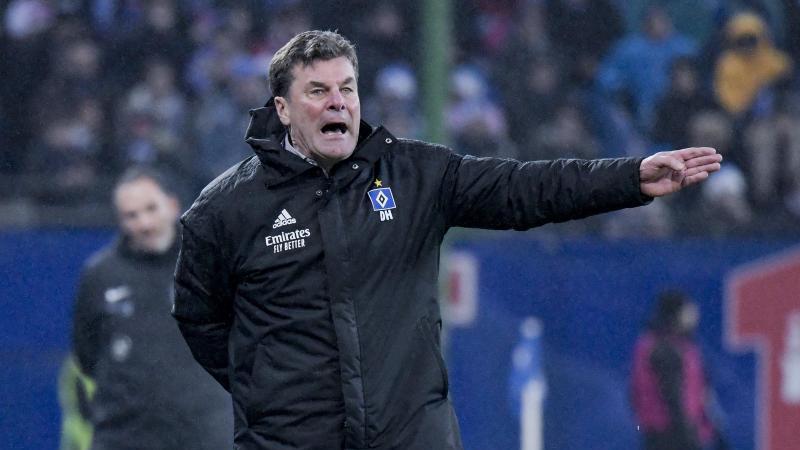 Hamburgs Trainer Dieter Hecking coacht sein Team. Foto: Axel Heimken/dpa/Archivbild