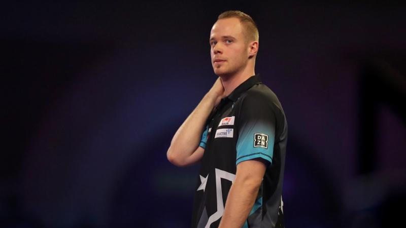 MaxHopp hat bei der Darts-WM den Einzug ins Achtelfinale verpasst. Foto: Bradley Collyer/PA Wire/dpa