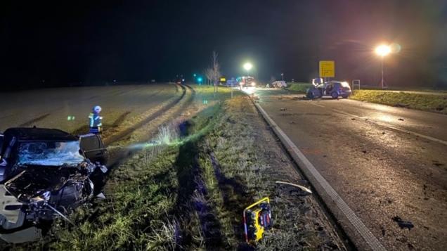 Schwerer Unfall auf der B455