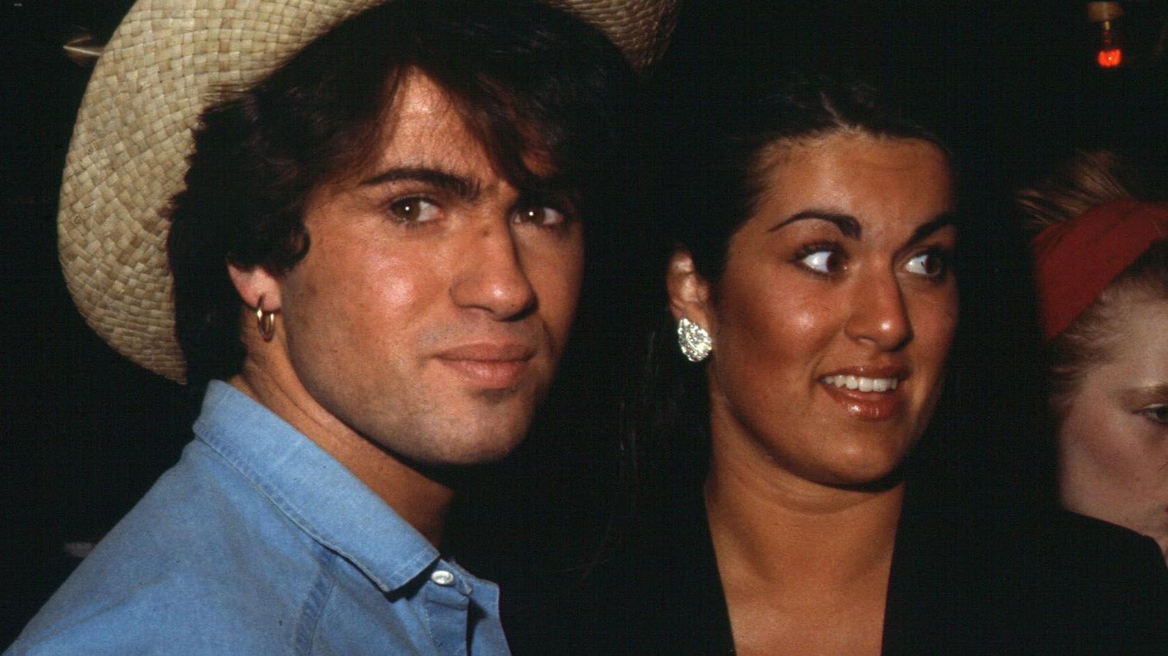 George Michael mit seiner Schwester Melanie Anfang der 1980er.