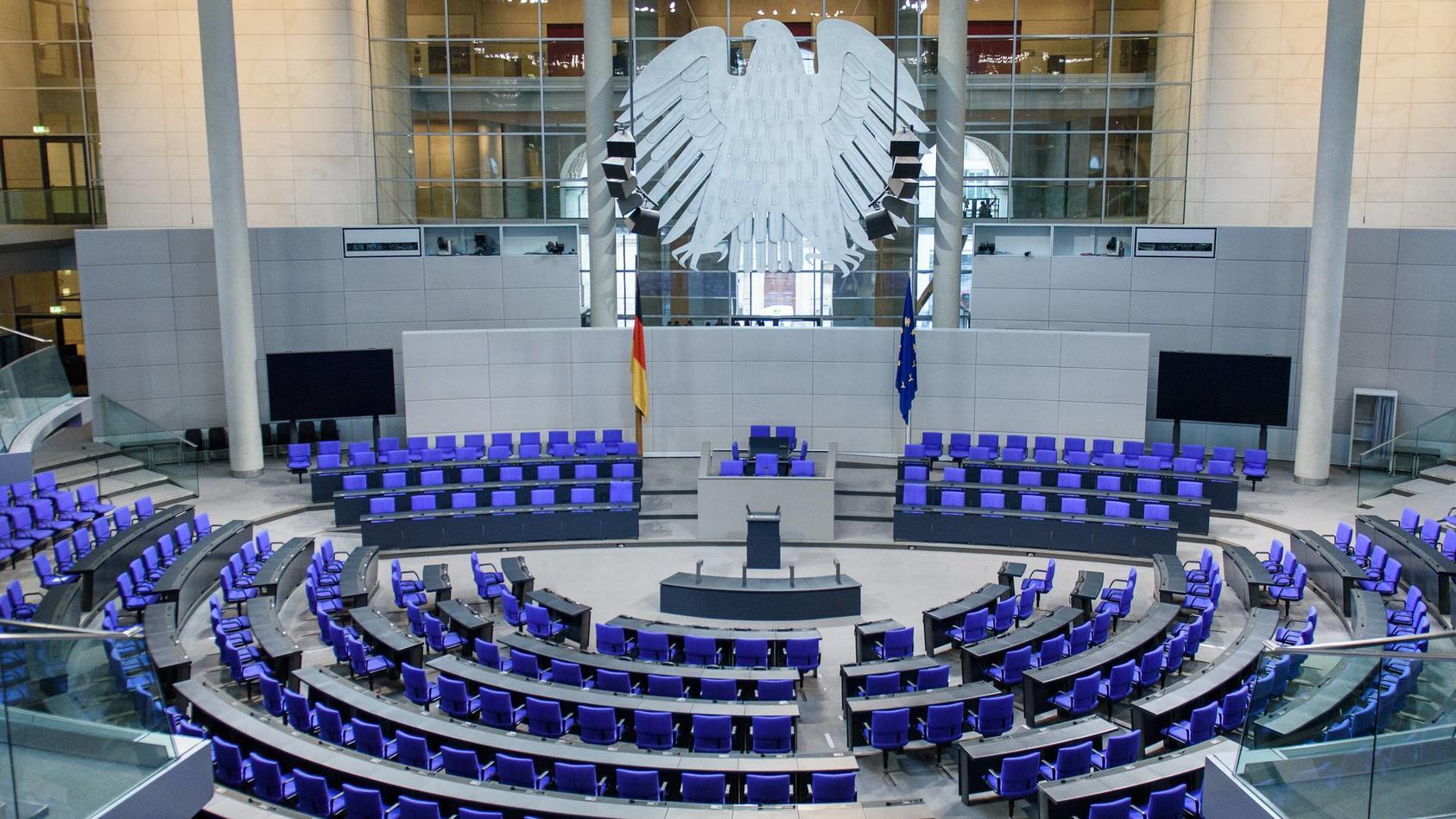 Plenarsaal Bundestag Deutschland Berlin 17 12 2018 Der Leere Plenarsaal des deutschen Bundestag