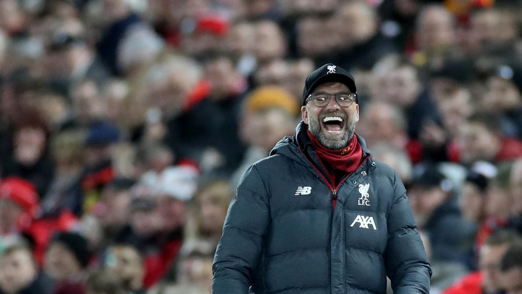 Soccer Football - Premier League - Liverpool v Sheffield United - Anfield, Liverpool, Britain - January 2, 2020   Liverpool manager Juergen Klopp reacts            Action Images via Reuters/Carl Recine    EDITORIAL USE ONLY. No use with unauthorized