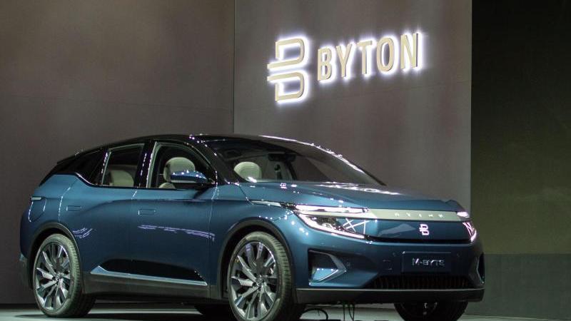 Das SUV-Modell M-Byte des Herstellers Byton. Foto: Andrej Sokolow/dpa