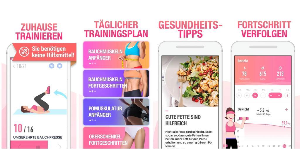 Frauen-Fitness-App.