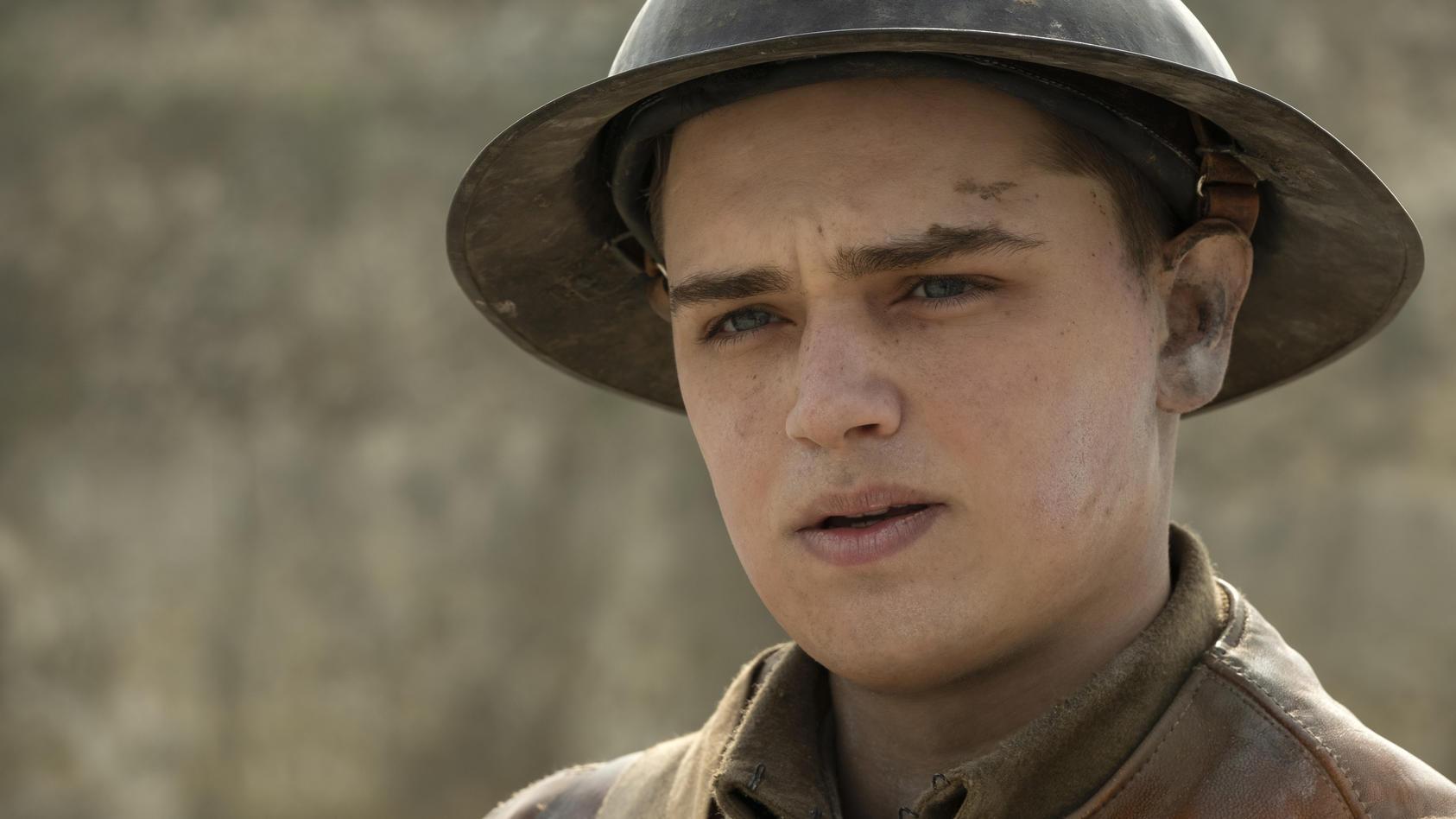 "Dean-Charles Chapman als Blake in Sam Mendes' ""1917"""