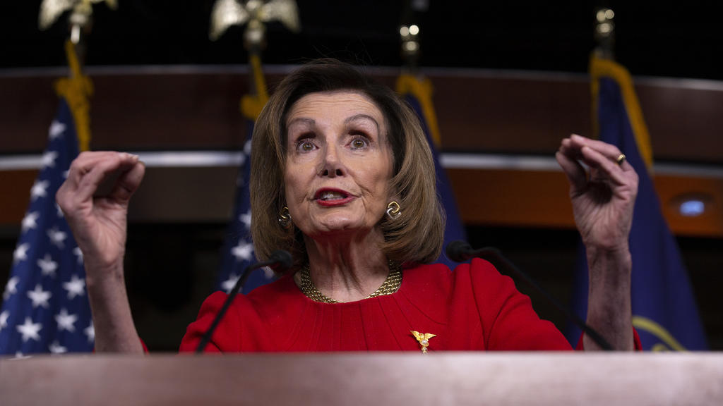 News Bilder des Tages December 19, 2019, Washington, District of Columbia, USA: Speaker of the United States House of Representatives Nancy Pelosi Democrat of California speaks at her weekly press conference on Capitol Hill in Washington D.C., U.S.,