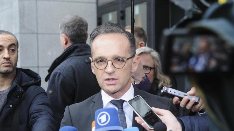 Außenminister Heiko Maas und seine EU-Amtskollegen kommen in Brüssel zu einem Sondertreffen zusammen, um über die Krisenherde in Nahost und Libyen zu beraten. Foto: Nicolas Landemard/Le Pictorium Agency via ZUMA/dpa