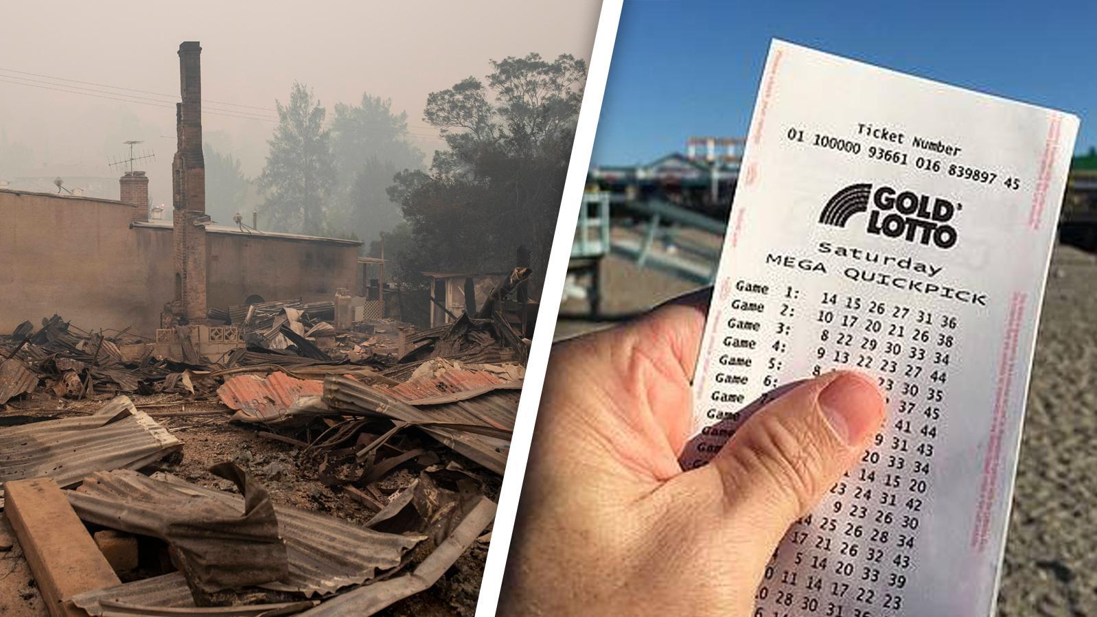 Wie dieses Haus brannte das Zuhause eines Australiers komplett ab - doch ein Lottoschein änderte alles.