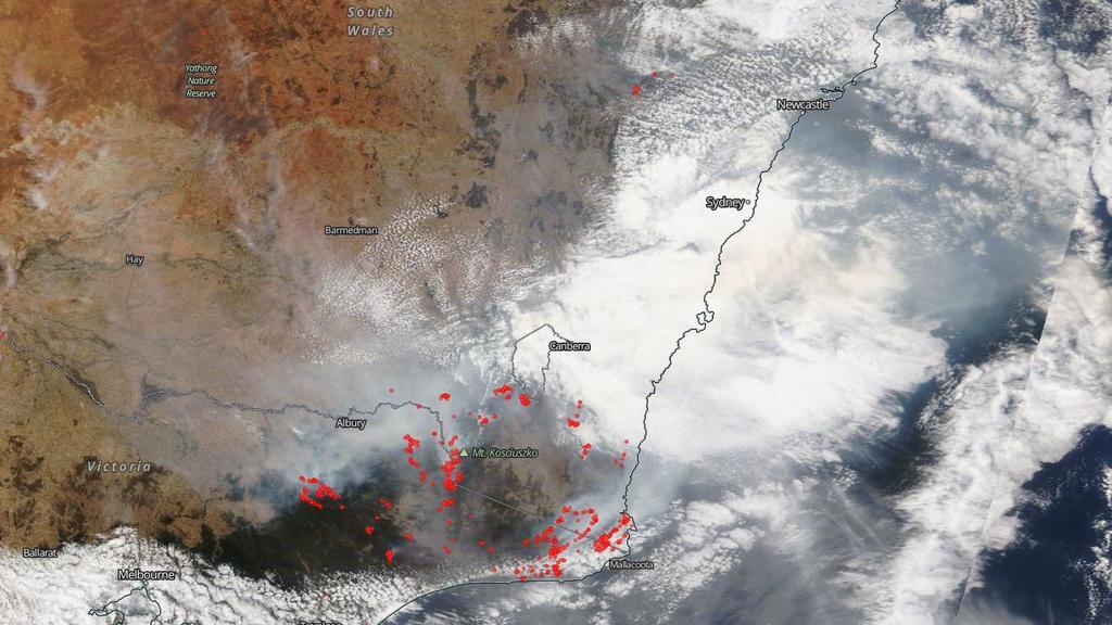 Nasa-Karte von Australien