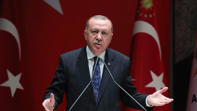 Recep Tayyip Erdogan soll an Gesprächen zur Lage im Bürgerkriegsland Libyen nachDeutschland kommen. Foto: Uncredited/Pool Turkish Presidency/AP/dpa