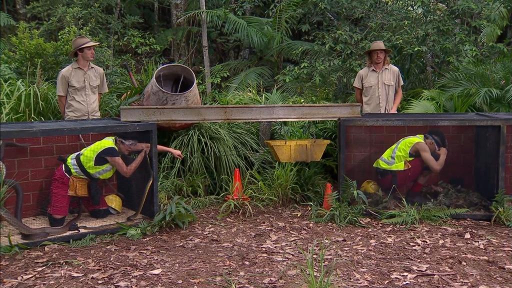 Dschungelcamp 2020: Sonja Kirchberger und Prince Damien in der Dschungelprüfung an Tag 10