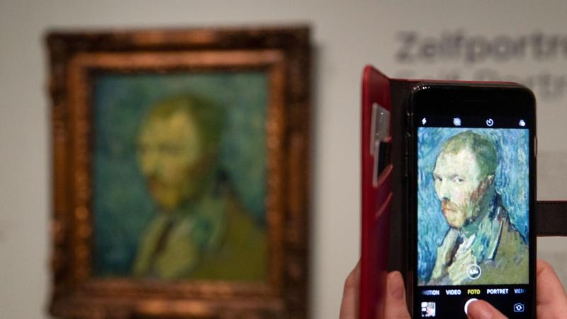 Das Selbstbildnis von Vincent van Gogh (1889) im Besitz des norwegischen Nationalmuseums inOslo. Foto: Peter Dejong/AP/dpa