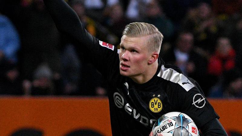 Dortmunds Erling Haaland jubelt. Foto: Stefan Puchner/dpa