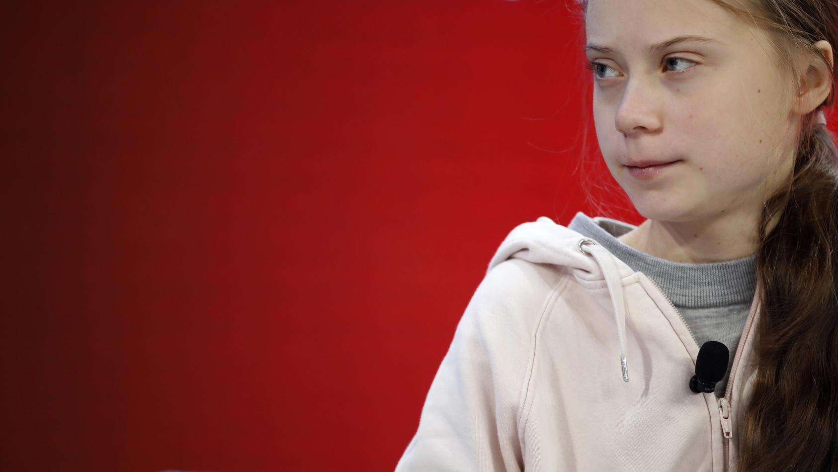 Greta Thunberg beim Weltwirtschaftsforum in Davos.