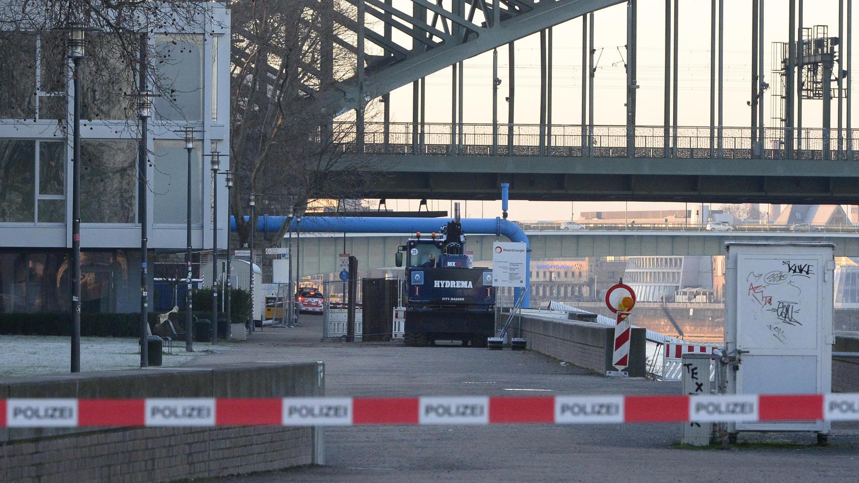 Bombenentschärfung in Köln.