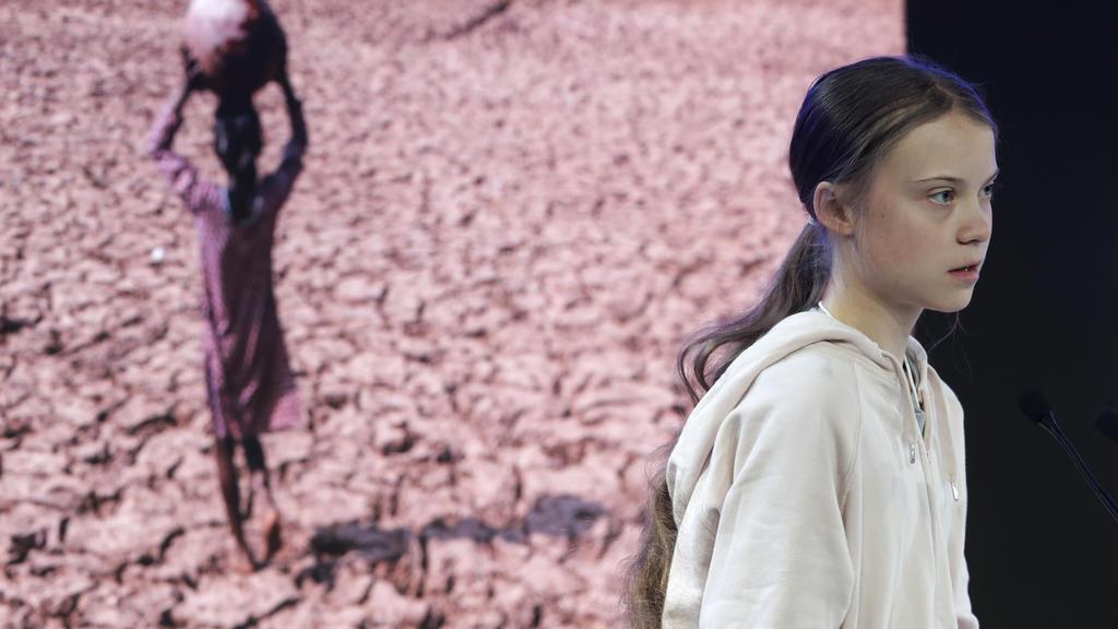 Greta Thunberg, Umweltaktivistin und Schülerin aus Schweden, spricht beim Weltwirtschaftsforum (WEF). Das 50. Jahrestreffen des Weltwirtschaftsforums findet vom 21. bis 24. Januar 2020 in Davos statt. Foto: Michael Probst/