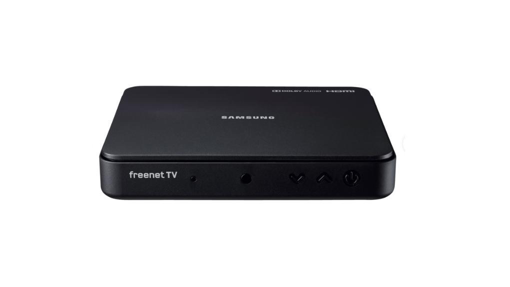 Mit dem Samsung-Receiver können Sie entscheiden, welche TV-Quelle Sie benutzen.