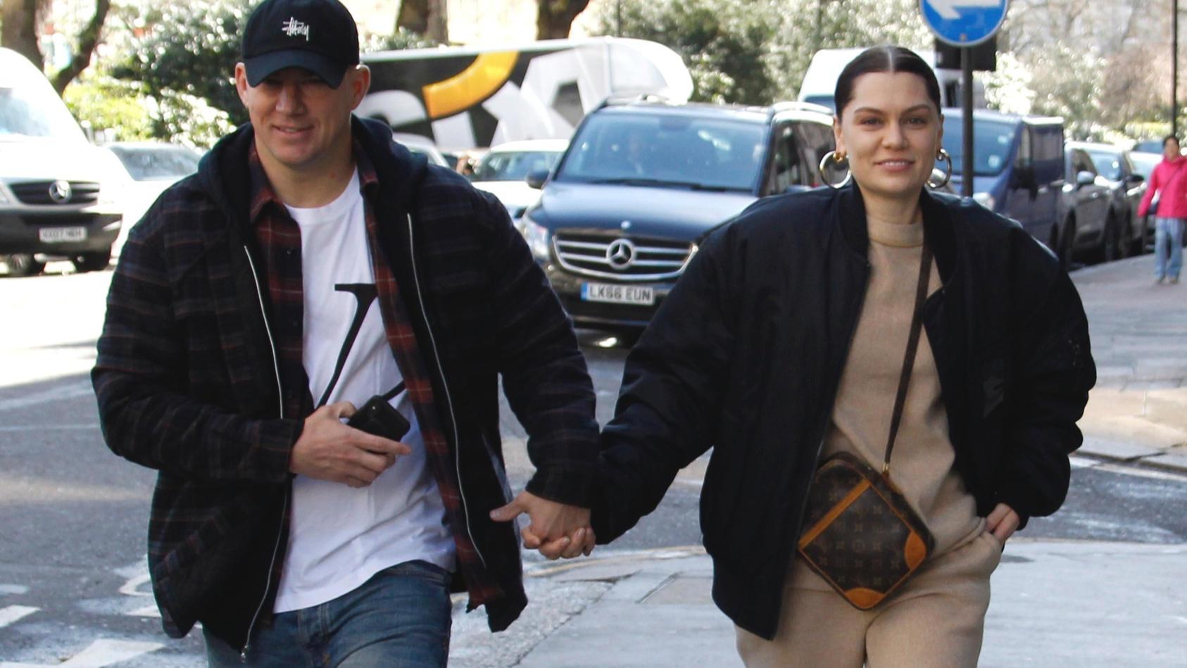 Eines der wenigen Pärchenfotos von Channing Tatum und Jessie J von März 2019.