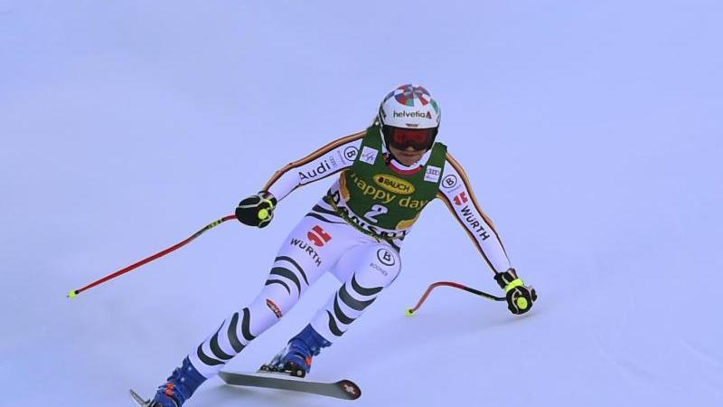 Viktoria Rebensburg belegte bei der Abfahrt in Bansko nur den 22. Platz. Foto: Pier Marco Tacca/AP/dpa