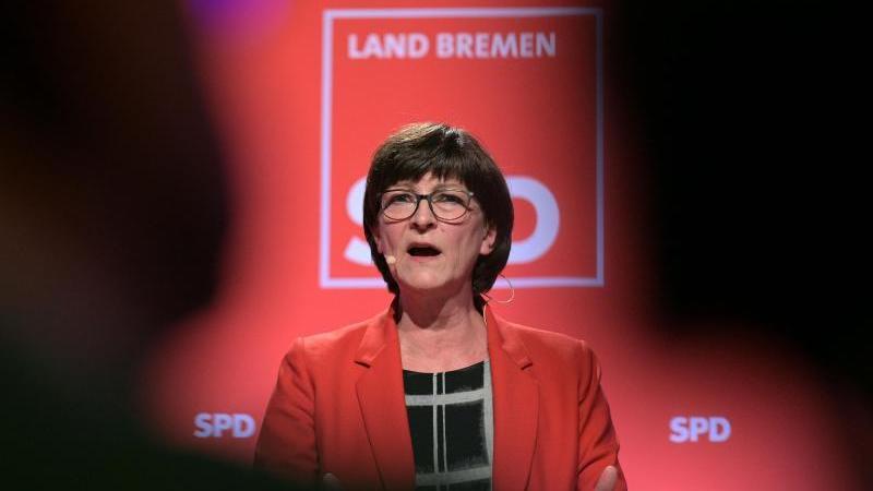 Die SPD-Parteivorsitzende Saskia Esken. Foto: Michael Bahlo/dpa/Archivbild