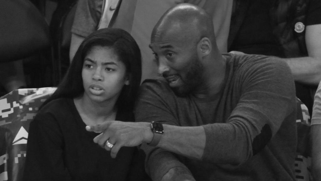 Kobe Bryant and daughter Gianna hang out as they attend a basketball game between the Los Angeles Lakers and the Atlanta Hawks at Staples Center on November 17, 2019 in Los Angeles, CaliforniaPictured: Kobe Bryant and Gianna BryantRef: SPL5129957 171