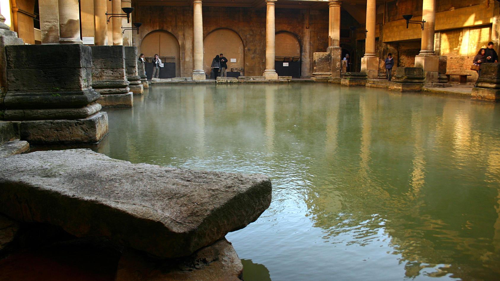 Schwitzbad im typisch römischen Stil