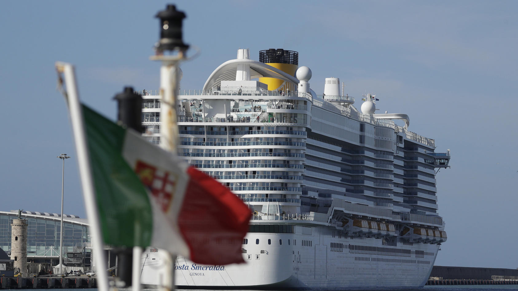 """Auf der """"Costa Smeralda"""" herrschte Ausnahmezustand: Eine Passagierin stand unter Verdacht, am Coronavirus erkrankt zu sein."""