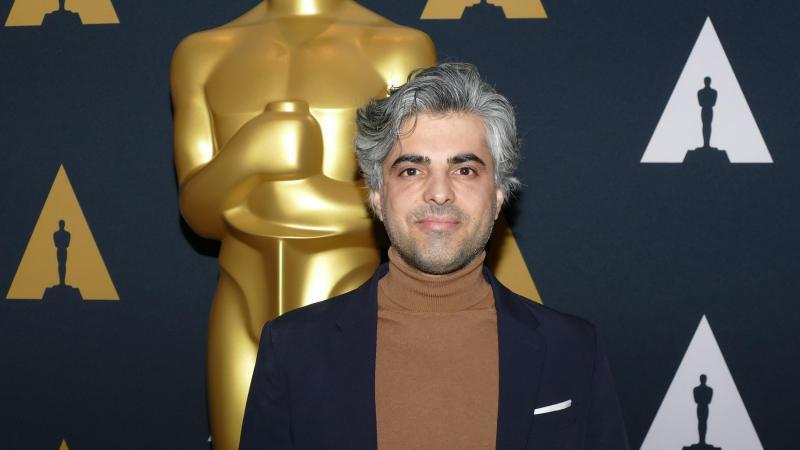 Regisseur Feras Fayyad beim Empfang für die Oscar-nominierten Dokumentarfilme in der Filmakademie in Los Angeles. Foto: Barbara Munker/dpa