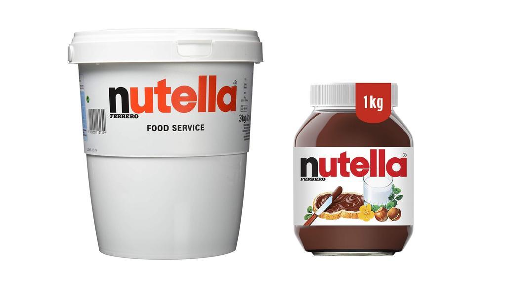 Nutella in großen Größen.
