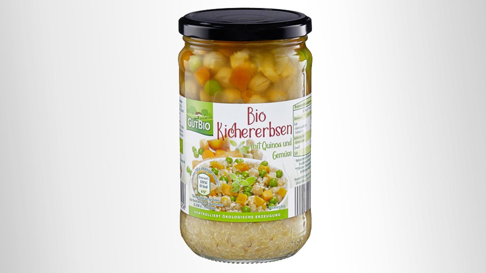"""Warenrückruf des Produktes """"Bio Kichererbsen mit Quinoa und Gemüse"""""""