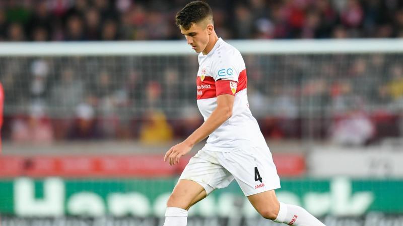 Marc Oliver Kempf vom VfB Stuttgart in Aktion. Foto: Tom Weller/dpa/Archivbild