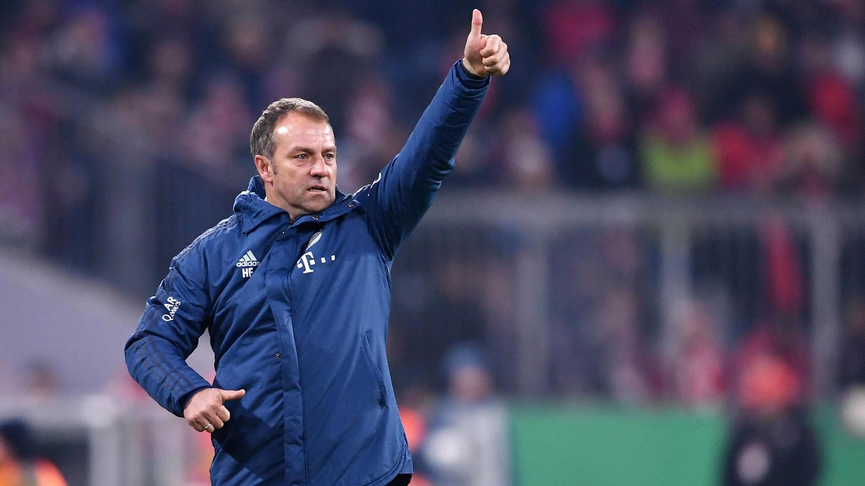 FUSSBALL DFB POKAL ACHTELFINALE SAISON 2019/2020 FC Bayern Muenchen - TSG 1899 Hoffenheim 05.02.2020 JUBEL Trainer Hans